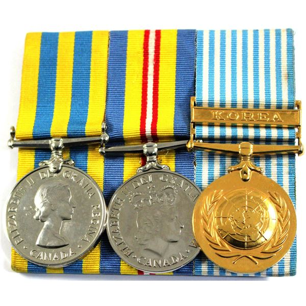 Estate Lot of 3x Korean War Medals with Pristine Ribbons. The medal on the left is named SA 1339 L.