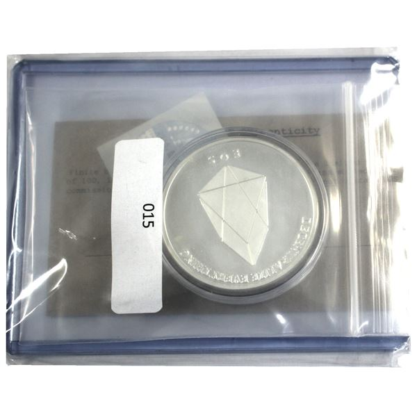 Very Scarce! 2017 Finite By Design 1oz EOS Cryptocurrency .999 Fine Silver Coin Encapsulated with CO
