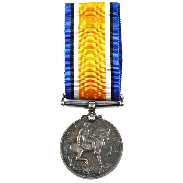 1914-1918 Canadian WWI Sterling Silver Medal with Pristine Ribbon Named 339775 GNR. J. J. Paton. C.F