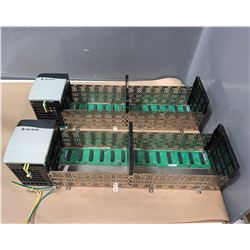 (2) - ALLEN-BRADLEY 1756-A13 13 SLOT CHASIS WITH POWER SUPPLY_1756-PA72