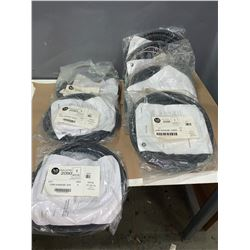 NEW - LOT OF ALLEN-BRADLEY CABLE SETS (SEE PICS FOR PART NUMBERS)