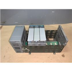 ALLEN-BRADLEY 1746-A7 SLC 500 7-SLOT RACK WITH POWER SUPPLY 1746-P1 & MODULES AS PICTURED