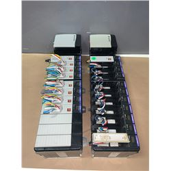 (2) - ALLEN-BRADLEY 1756-A13 13 SLOT CHASIS W/POWER SUPPLY 1756-PA75 & MODULES AS SHOWN IN THE PICS