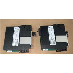 (2) - ALLEN-BRADLEY 1756-L72S LOGIX 5572S AUTOMATION CONTROLLERS