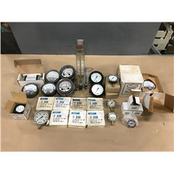 LOT OF PRESSURE/ FLOW GAUGES