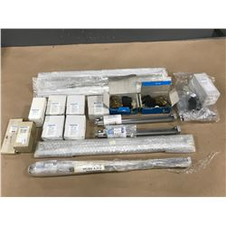 LOT OF FESTO MISC. CYLINDER / VALVE / GUIDE