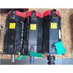 (3) - FANUC A06B-0148-B175 a22/3000 AC SERVO MOTORS