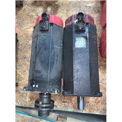 (2) - FANUC A06B-0152-B076#7000 AC SERVO MOTORS