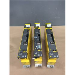 (3) - FANUC A06B-6114-H105 aiSV 80 SERVO DRIVES