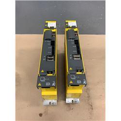 (2) - FANUC A06B-6114-H105 aiSV 80 SERVO DRIVES