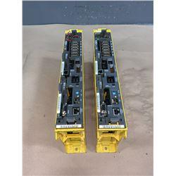 (2) - FANUC A02B-0283-B801 SERIES 18i-MB DRIVES
