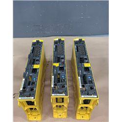 (3) - FANUC A02B-0283-B801 SERIES 18i-MB Drives