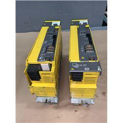 (2) - FANUC A06B-6114-H211 aiSV 160/160 SERVO DRIVES (PLASTIC CASING CRACKED)