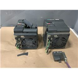 (2) - SIEMENS 6SE9221-0DC40 MICROMASTER DRIVES (FOR PARTS OR REPAIR)