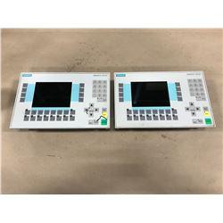 (2) SIEMENS 6AV3627-1LK00-1AX0 OPERATOR PANEL