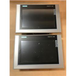 (2) SIEMENS 6AV2 124-0JC01-0AX0 TP900 COMFORT TOUCH PANEL