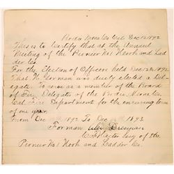 Appointment of Delegate for the Bodie Fire Dept.  [128024]