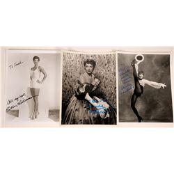 Three Leading Ladies Autographed Photos  [127441]