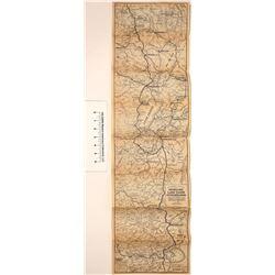 c1920 Auto Club of California Road Map (Mono Lake, Lake Tahoe, Feather River, etc.)  [123835]