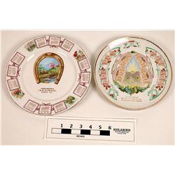 Souvenir Advertising and Calendar Plates Oroville Area (2)  [129825]