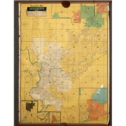 Sacramento County Wall Map, 1950's  [131289]