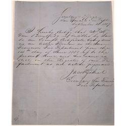 Gold Rush Era San Francisco Firefighting Letter  [128022]