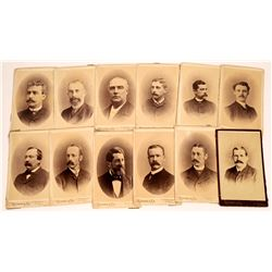 Twelve Cabinet Cards of San Francisco Businessmen by Rieman & Company  [123920]