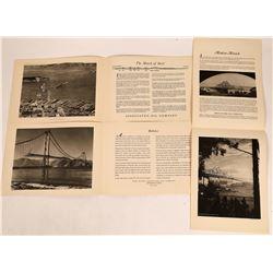 Rare Presentation Photos San Francisco Golden Gate and Bay Bridge Construction  [128020]