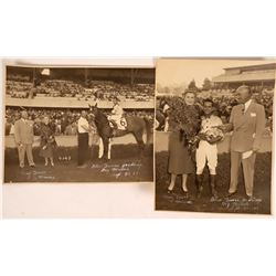 Bay Meadows Horse Race Photographs (signed) Lot of 2  [131315]
