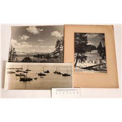 Two Very Large California Nature Black & White Photographs, Yosemite, Lake Tahoe  [123957]
