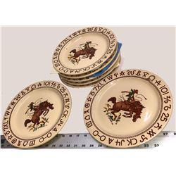 Westward Ho Rodeo Pattern Cowboy Plates  [131261]