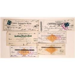 Rare Deadwood, Dakota Territory Check Collection incl. RN  [129595]