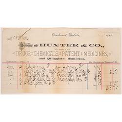 Rare Deadwood, Dakota Territory Druggist Billhead  [129593]