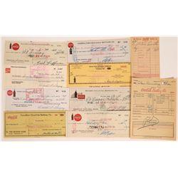 Coca Cola Checks and Receipts  [131396]