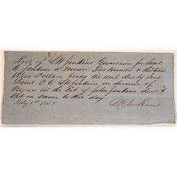 Slave Document Fayette Kentucky  [131391]