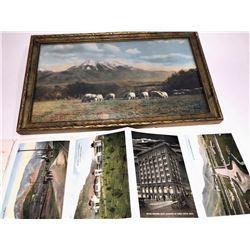 Meadow & Rocky Mountain Framed Photograph  [131637]