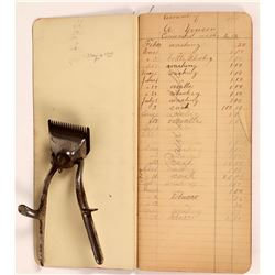 Lovelock Business Day Book, 1899; Hair Cutting shears 1892  [131480]