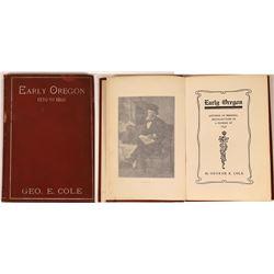 Early Oregon 1850-1860 Book  [128006]