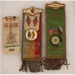 Oregon Woodmen of the World Ribbons  [131058]