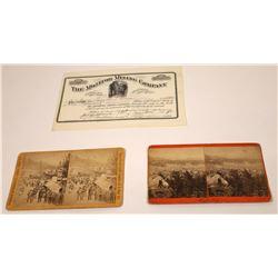 South Dakota Historical Pair of Photos Plus a Stock  [131522]