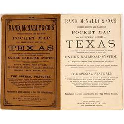 Texas Pocket Map- 1900  [128868]