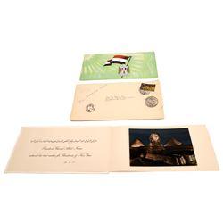Ephemera from President Gamal Nasser of Egypt  [129663]