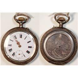 Remontois Cylindre 10 Rubis Pocket Watch  [122504]