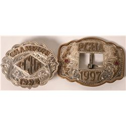 Broken Horn Silver Belt Buckles (2)  [129523]