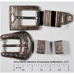 Gold and Silver Belt Buckles (2)  [129521]