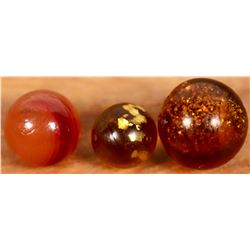 Butterscotch swirl, Mica marbles  [127828]