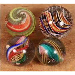 Divided core, Open ribbon core, Solid core, Corkscrew (type) marbles - (4)  [127821]