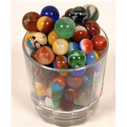 Grab bag of earlier Machine made marbles - (100)  [127813]