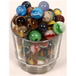 Grab bag of machine made marbles - (100)  [127812]