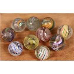 Handmade Swirl marbles - (10)  [127824]